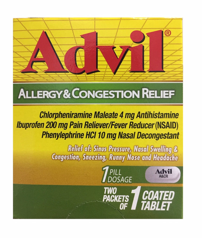 Advil - Travel Size Allergy & Congestion Relief - 1 Coated Tablet