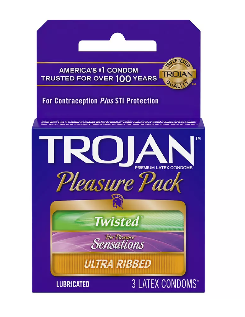 Trojan - Pleasure Pack - 3 count (Case of 48)
