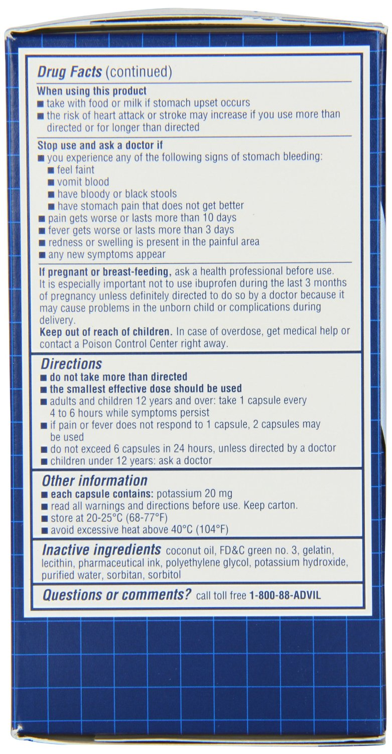 Advil - Pain Reliever Fever Reducer - 20 Liqui Gels