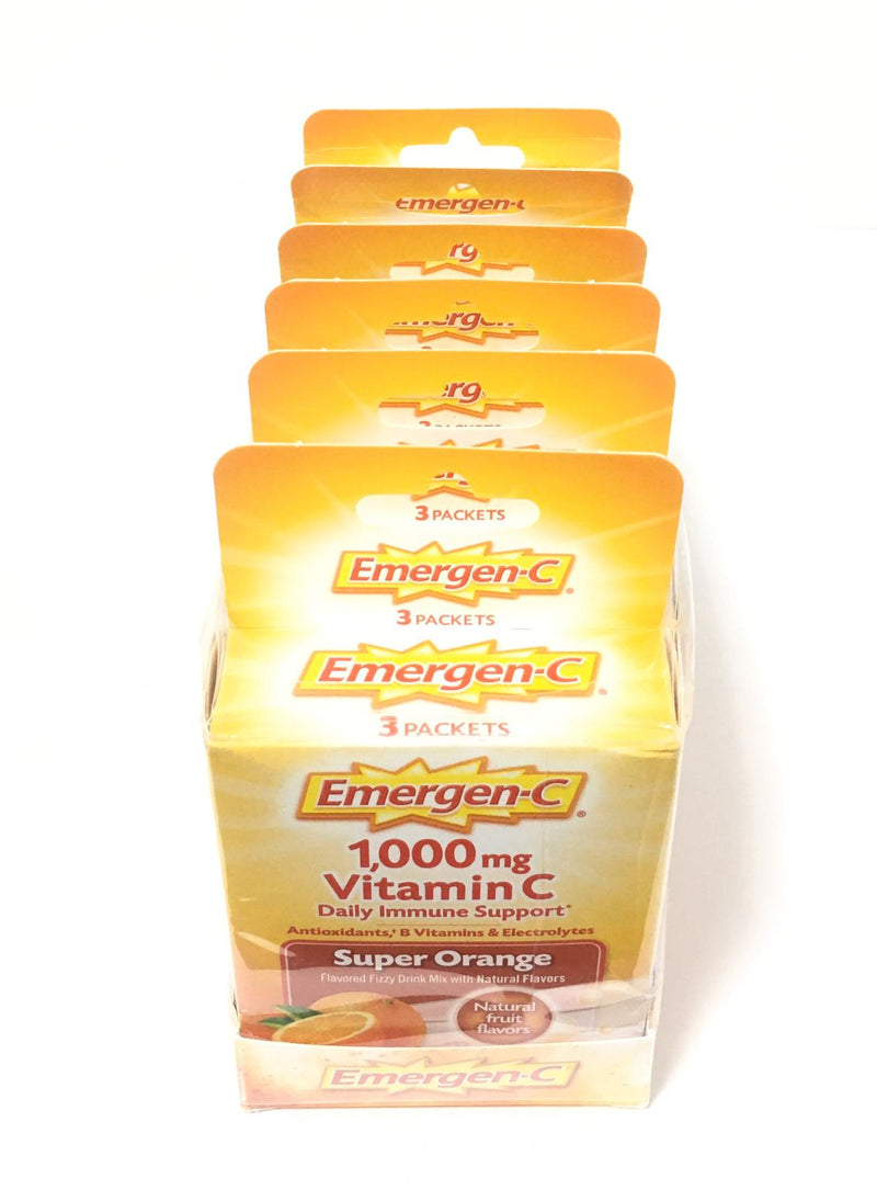 Emergen C - 1000 mg Vitamin C Fizzy Drink Mix- 3ct  ( 6-Pack )