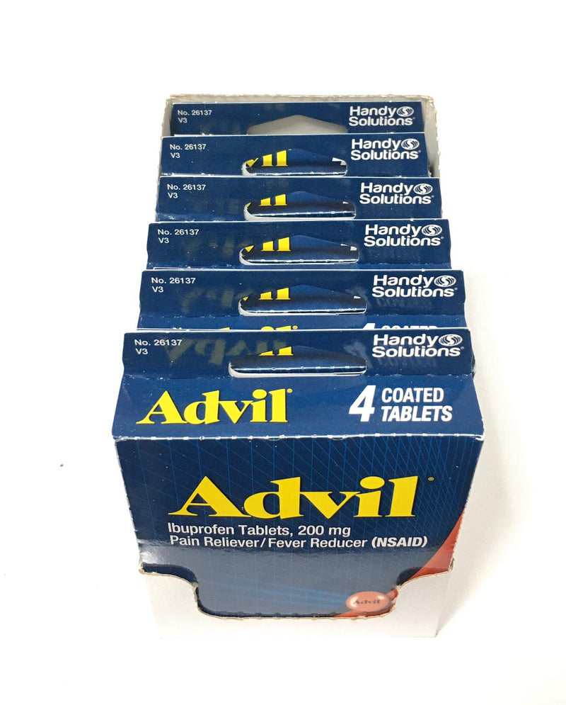 Advil Ibuprophen Coated Tablets 4ct (6-Pack)