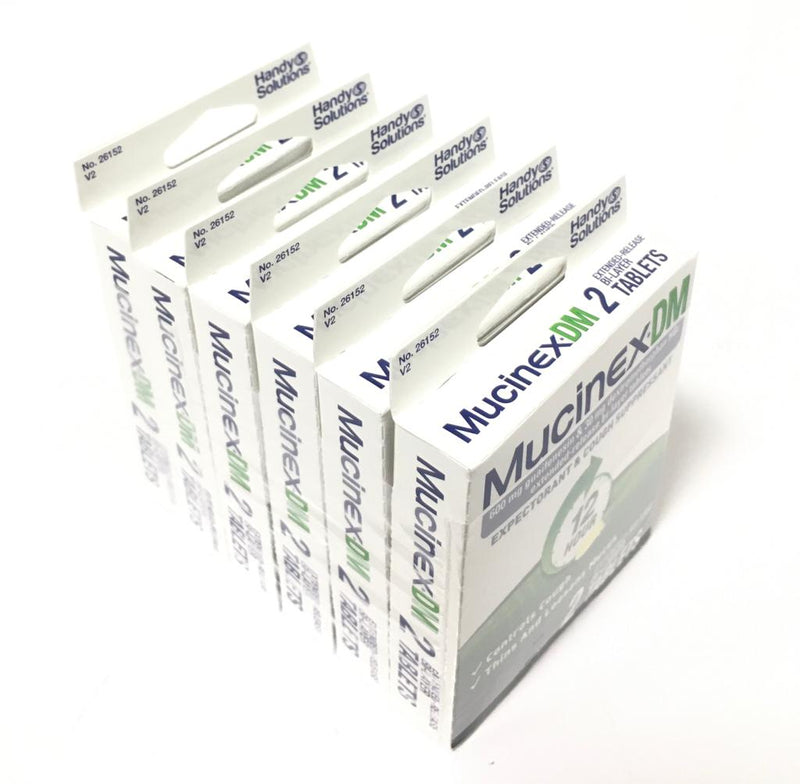 Mucinex DM 12-hour, 2 tablets (6-Pack)