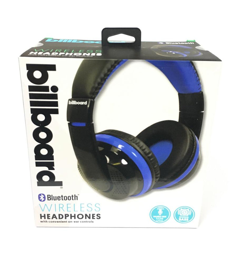 Billboard BB490 Wireless Headphones With Convenient On Ear Control, Blue
