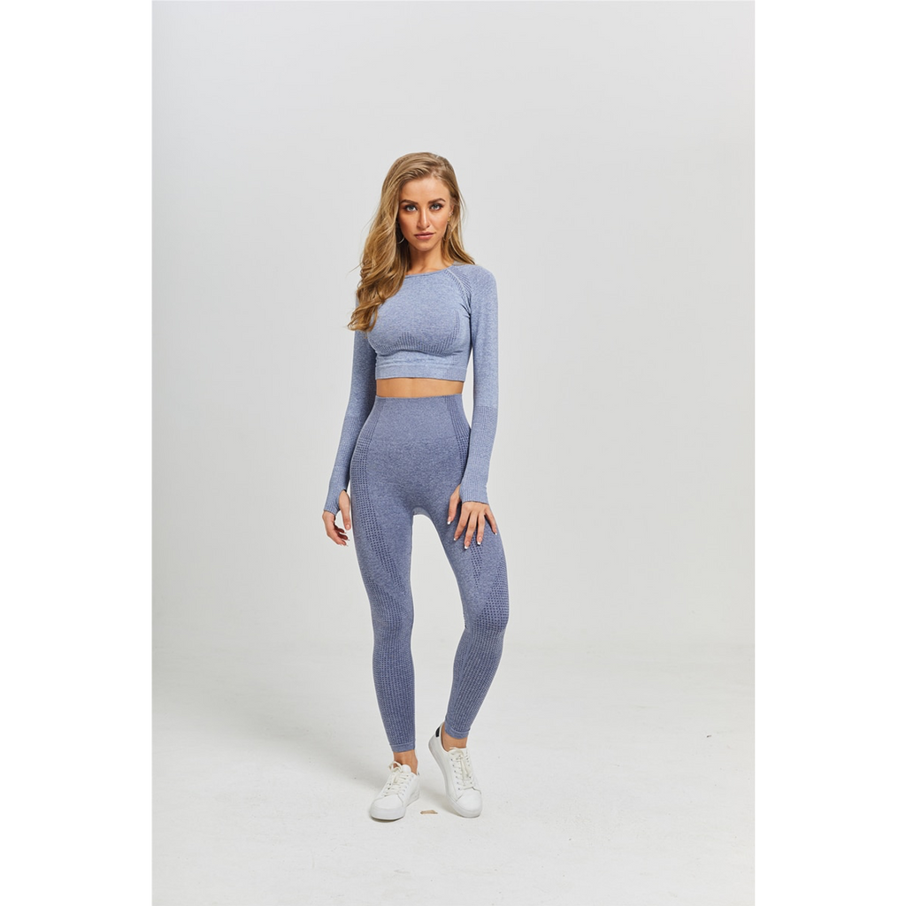 Ensemble (haut+bas) de Yoga LOTUS Gris