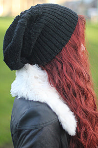 fair trade wool slouchh hat