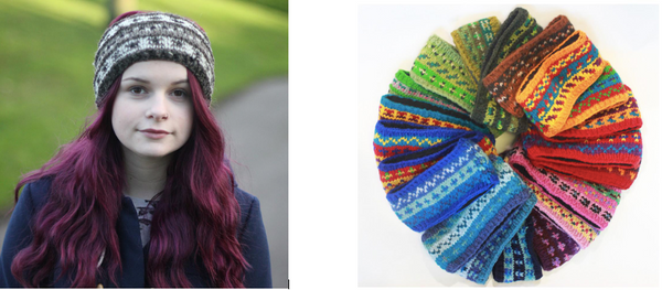 knitted wool headbands in lots of colours and styles