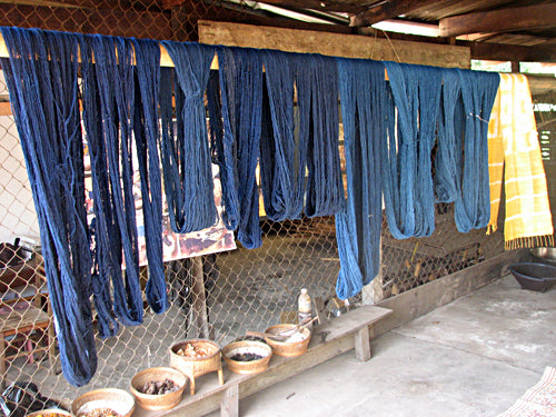 natural dye indigo cotton from Laos