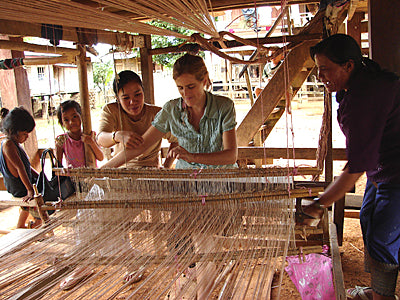 Fiona working with local producers in Laos