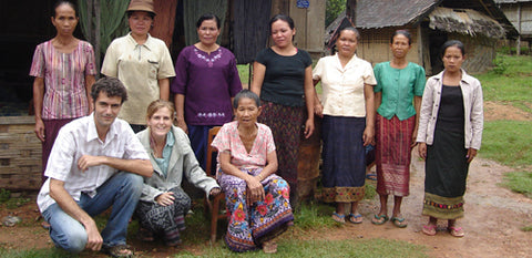 paul and fiona working with From the Source producers in Laos
