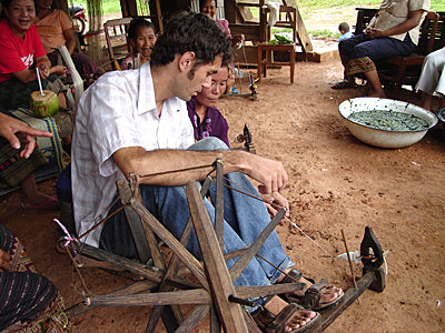 paul working in Laos