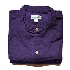 purple grandad shirt