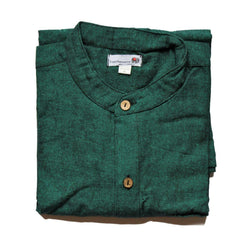 green grandad shirt
