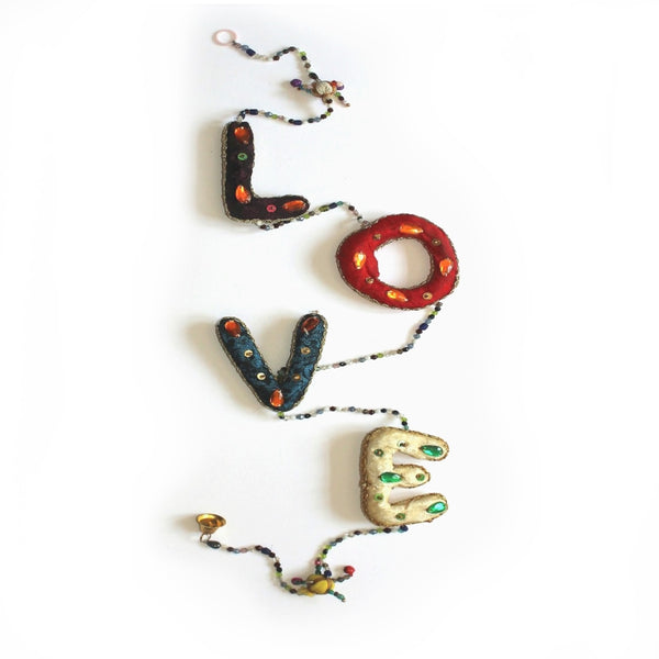 india door decoration love letter hanging tota bell