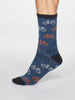 Zachary Bicycle Bamboo Organic Cotton Blend Socks
