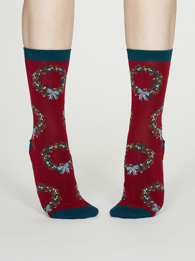 Adella Bamboo Christmas Reef Socks