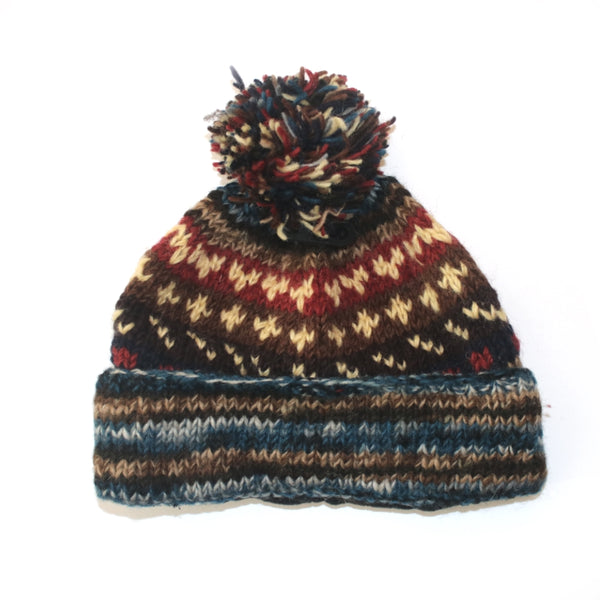 Nordic Knit Wool Bobble Hat Knitted Amp Fair Trade In