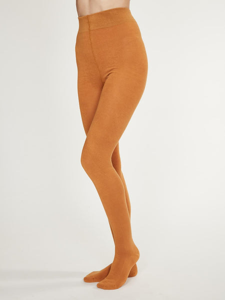 Elgin Plain Bamboo Tights in Amber