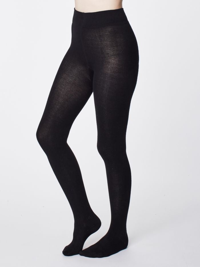 Elgin Plain Bamboo Tights in Black