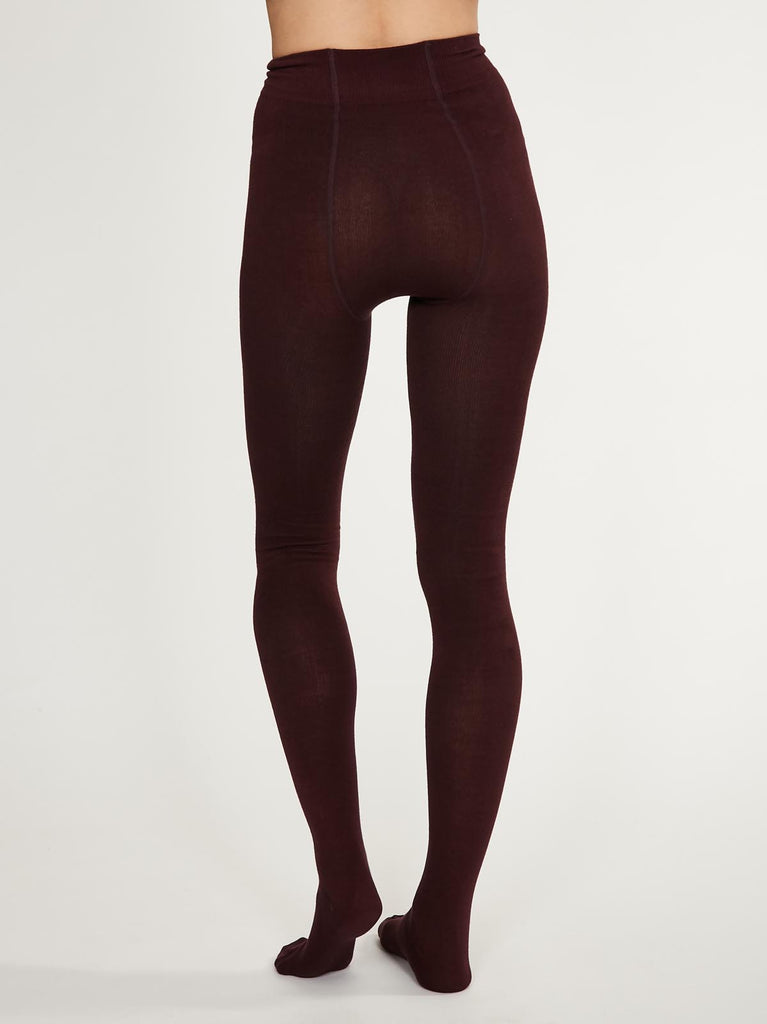 Elgin Plain Bamboo Tights in Fig