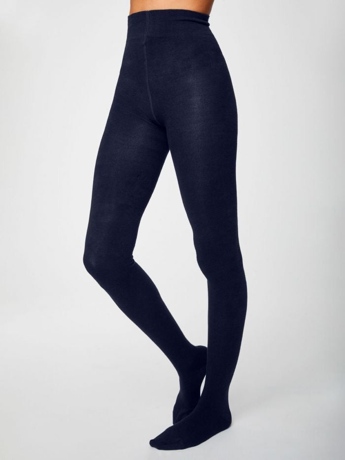Elgin Plain Bamboo Tights in Midnight Navy