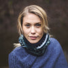blue nordic stripe wool snood