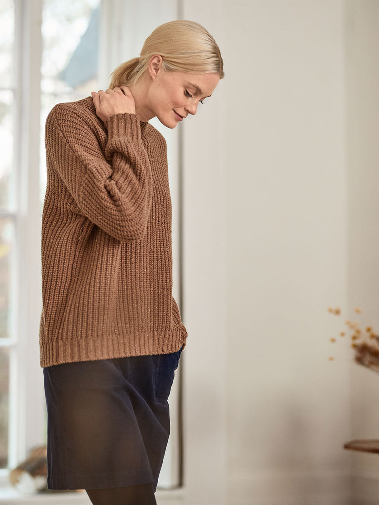 Potto Chunky Wool Blend High Neck Sweater