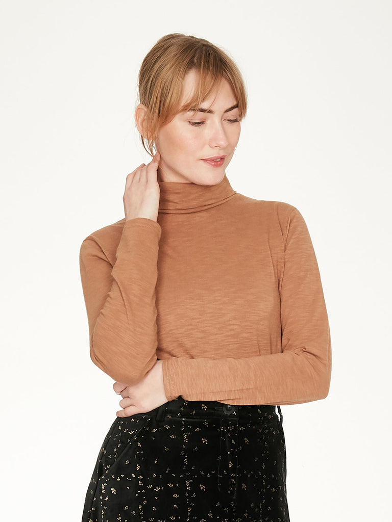 Claudia Organic Cotton Roll Neck Top