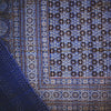 ajrakh gudri kantha stitch double cotton throw blue concentric shapes