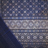 ajrakh gudri kantha double cotton throw blue cream diamond