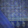 ajrak gudhri single cotton throw blue green botanic