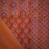 ajrak gudhri single cotton throw orange patchwork