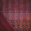 ajrak gudhri single cotton throw red diamond