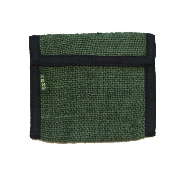 green hemp wallet bi-fold