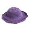 fair trade purple natural hemp cotton hat made in Nepal