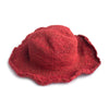 fair trade red sun hat natural hemp and cotton made in Nepal