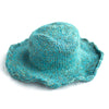 fair trade turquoise sun hat natural hemp and cotton made in Nepal