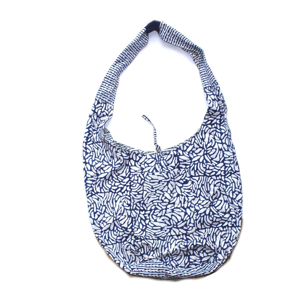 block print cotton sling bag