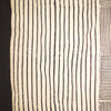 cream black striped squares block printed cotton throw double