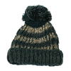 blue & grey chunky wool bobble hat