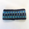 blue nordic knit wool headband
