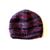 multi tonal wool beanie hat in purple heather