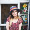 fair trade stripy rainbow hemp summer hat