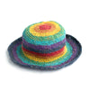 rainbow stripe sun hat made in Nepal
