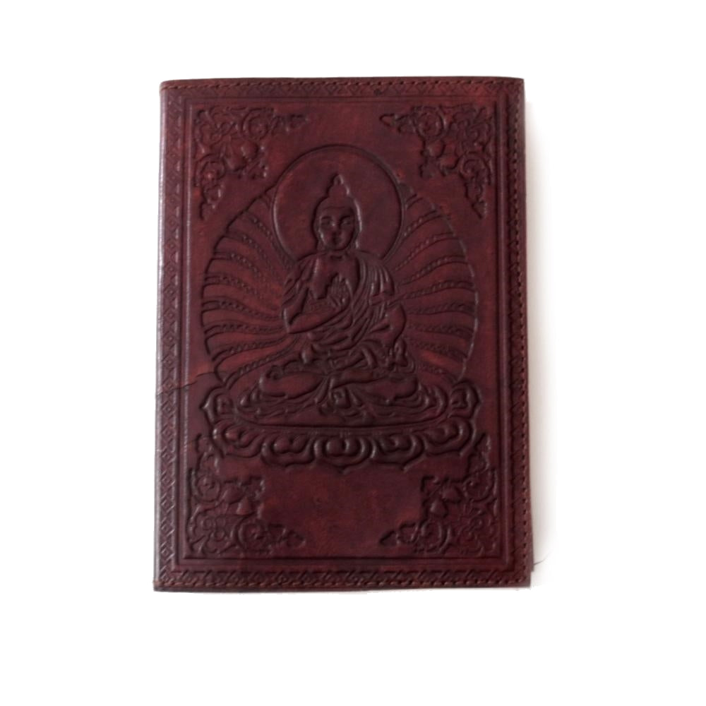 buddha embossed fair trade leather journal