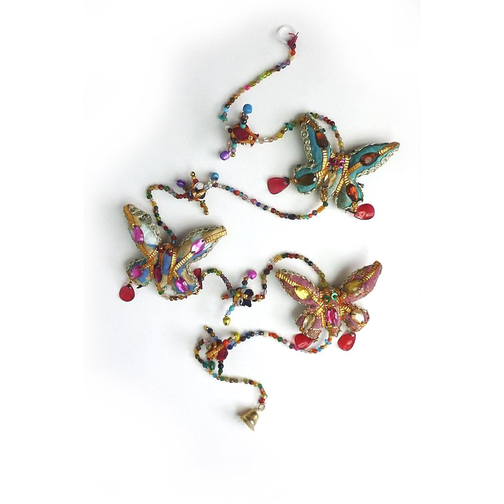 String of butterflies Indian hanging decoration