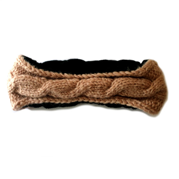 cable knit wool headband