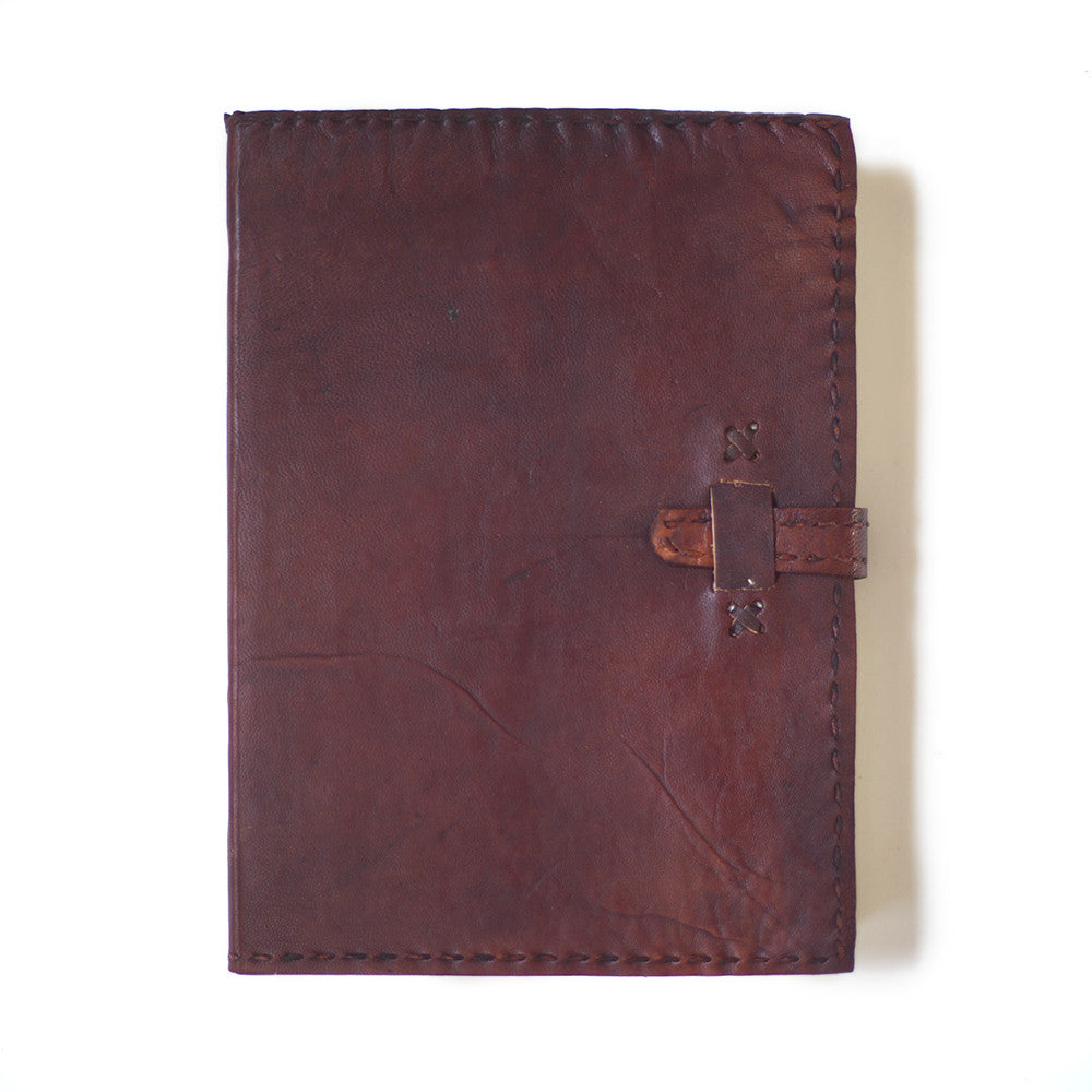 indian leather notebook handmade paper clasp