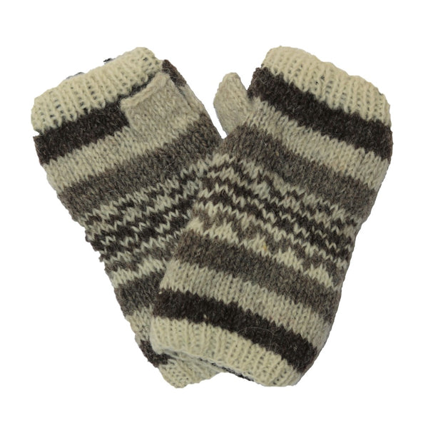 nordic knit wool wrist warmers
