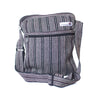 fair trade black white striped gehri cotton cross body shoulder bag from Nepal