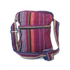 fair trade ember striped gehri cotton cross body shoulder bag from Nepal